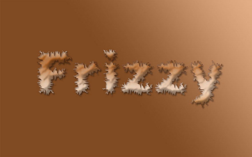 Frizzy Text Effect Psd