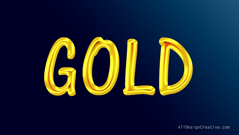 Gold Liquid Text Effects Photoshop PSD