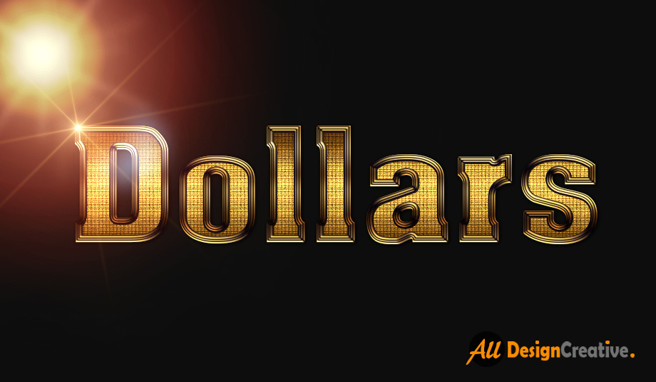 Gold Shiny Text Effect PSD