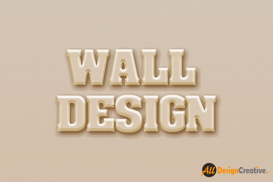 PSD File-Wall Poster 3D Text Effect