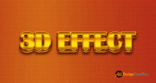 Realistic 3D Gold Text Effect Photoshop PSD