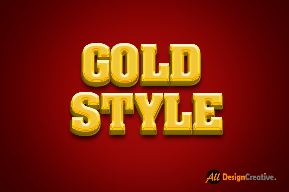 Realistic Gold Style 3D Text Effect