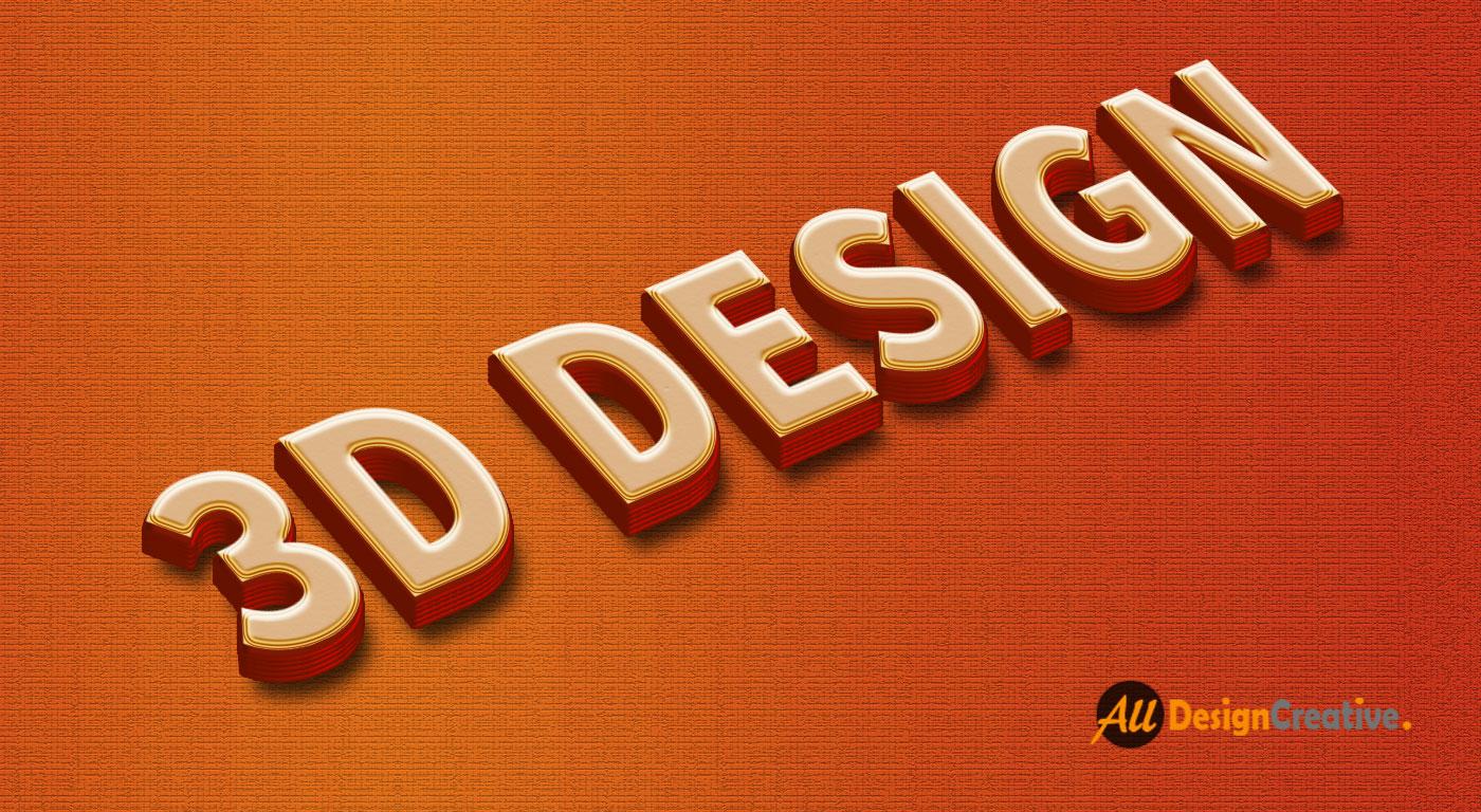 3D Textile Design PSD