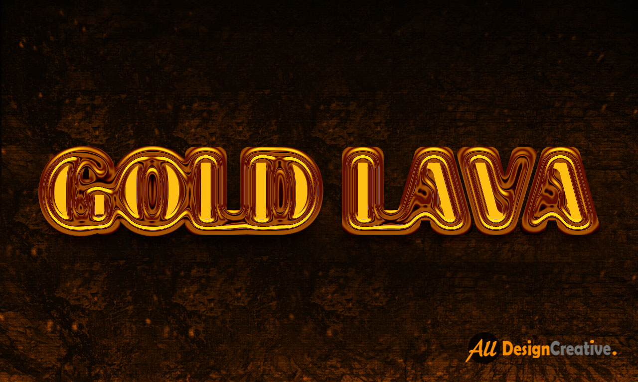 Gold Lava Text Effect PSD