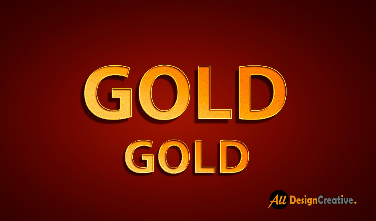 Golden Text PSD Free Download