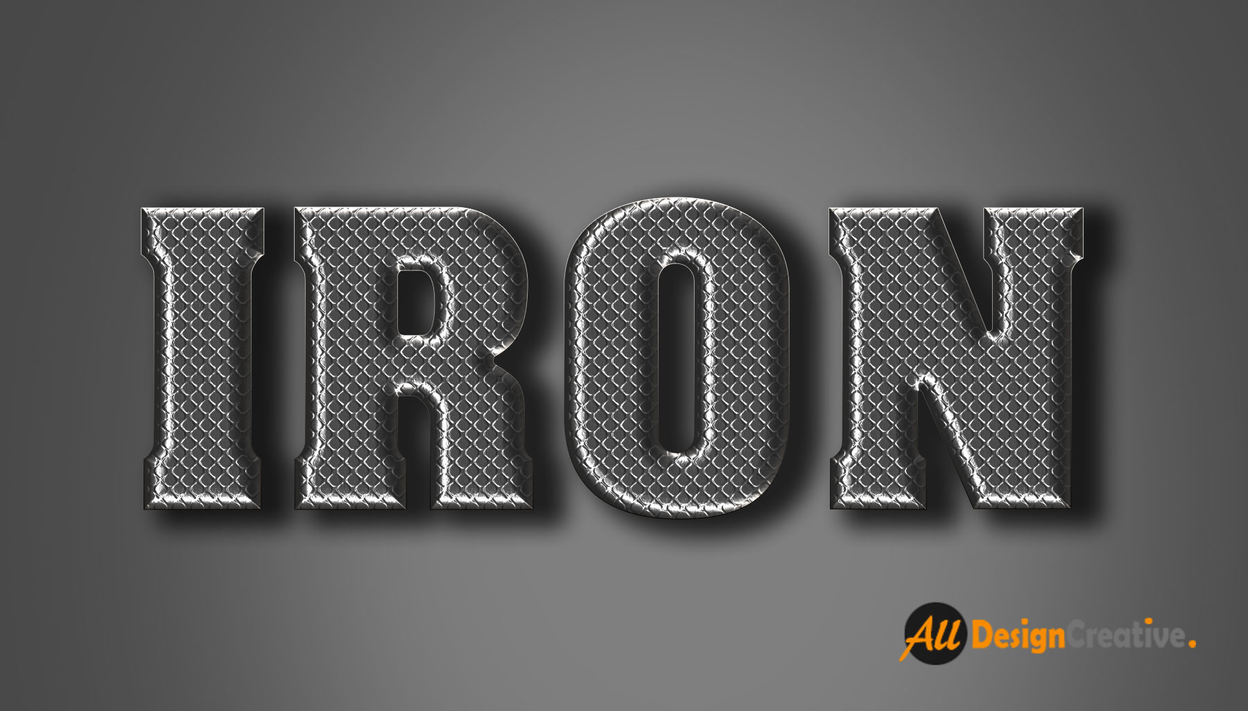 Iron Text Effect PSD