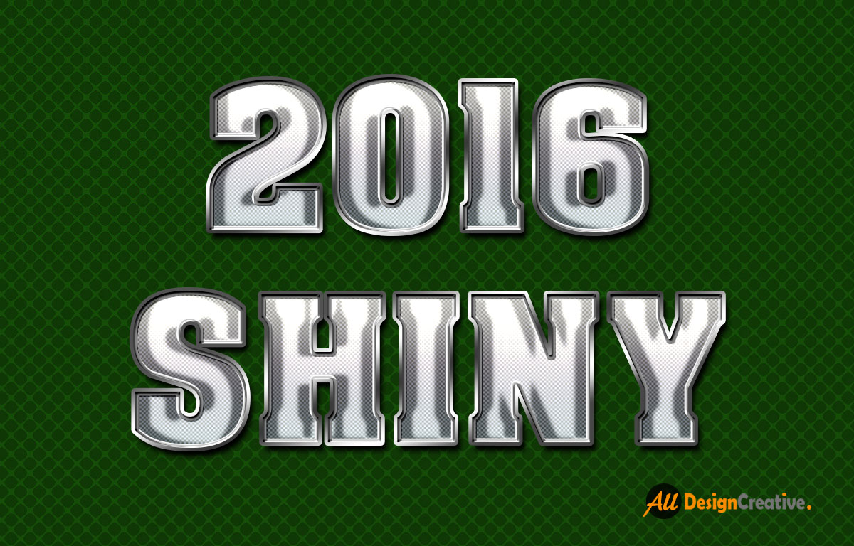 Shiny Metal Text PSD Free Download
