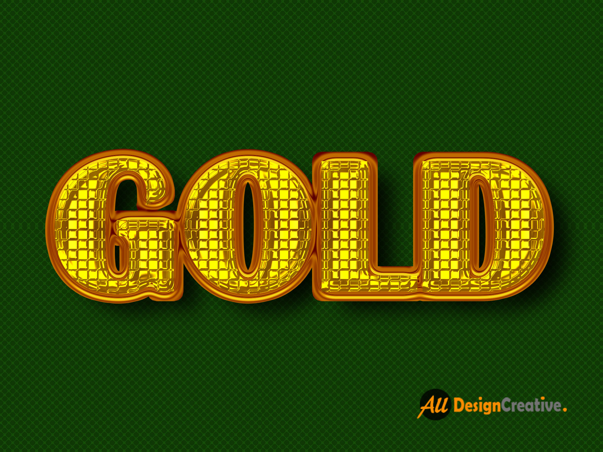 Painted Golden Text Effect PSD