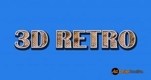 PSD 3D Retro Text Effect