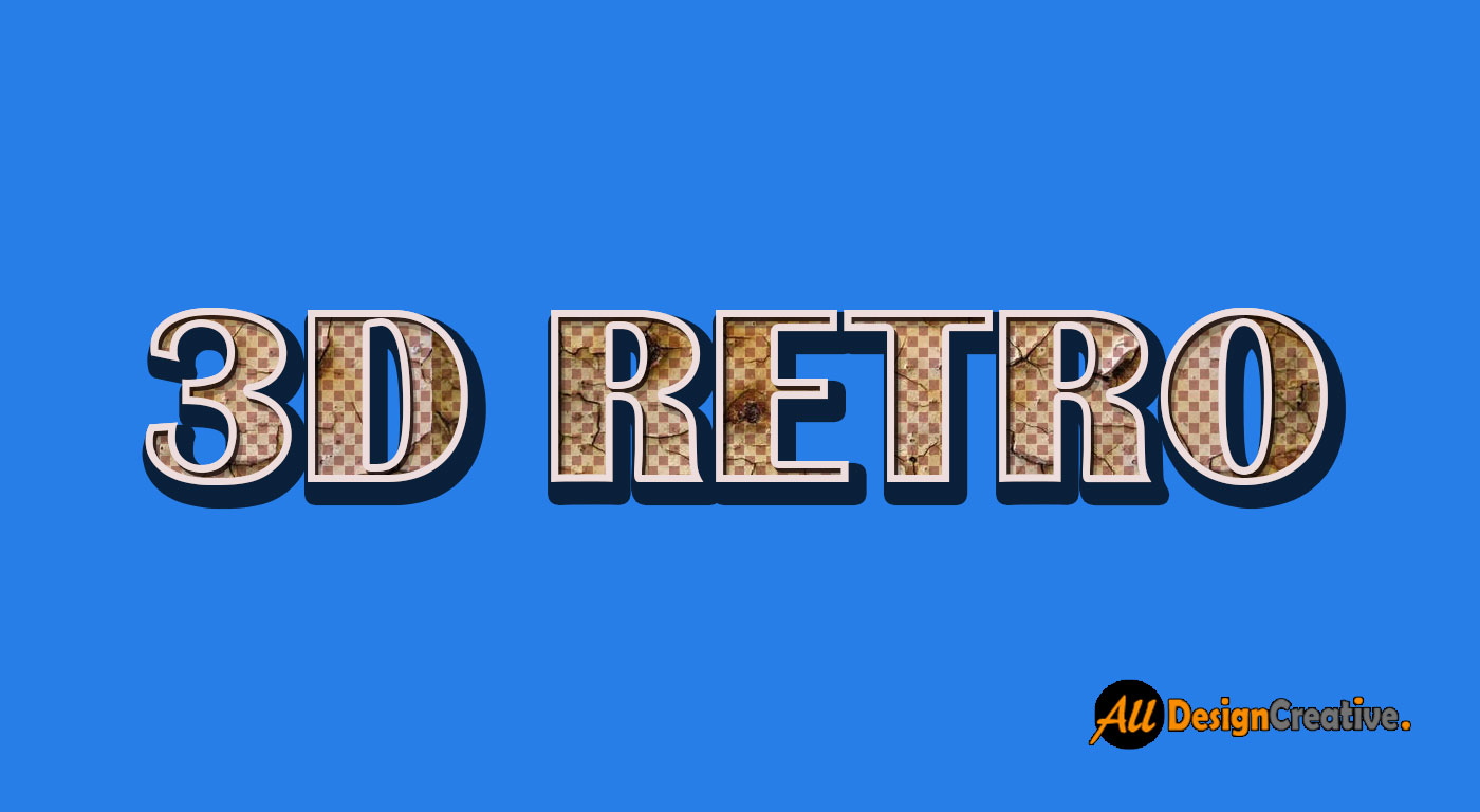 PSD 3D Retro Text Effect