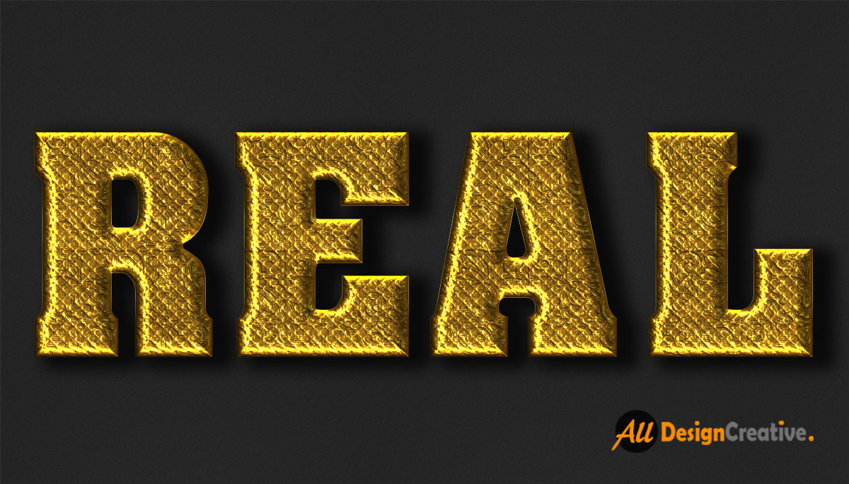 Real Gold Text Effect PSD File