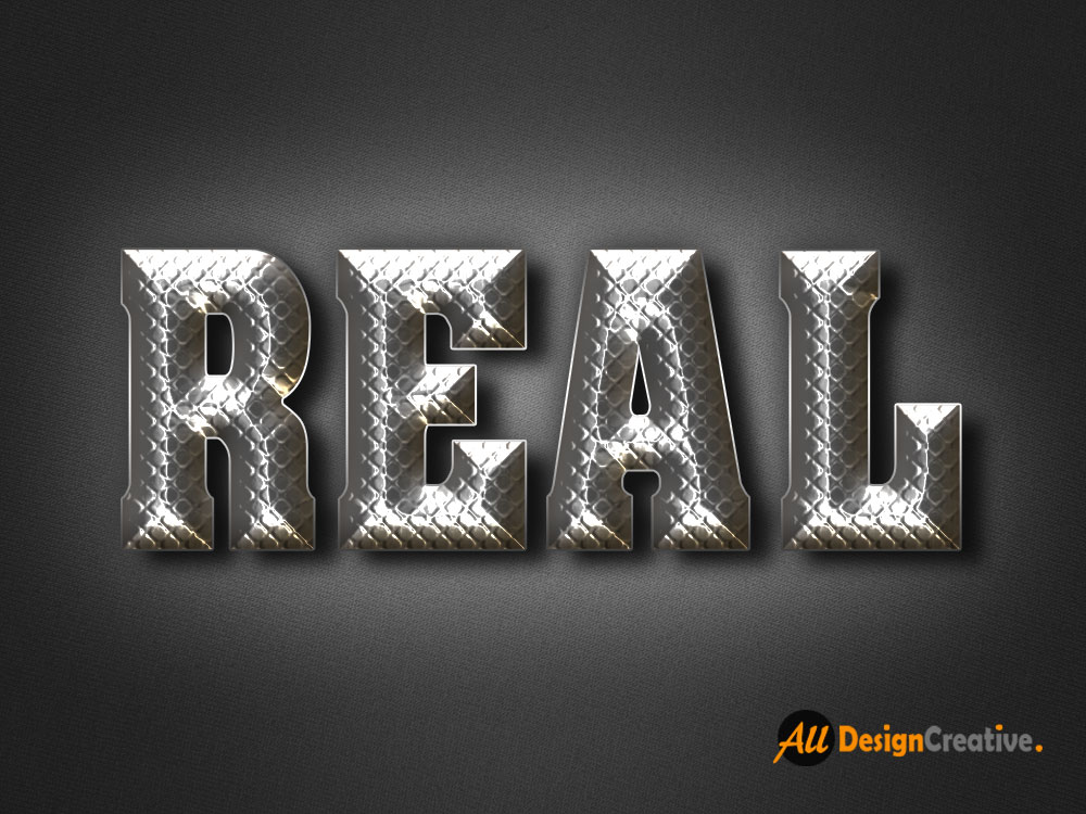Real Metal Text PSD