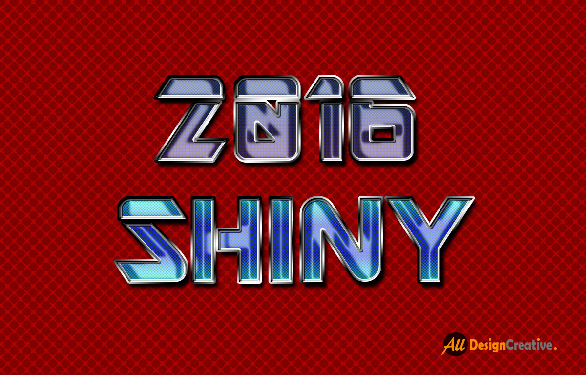 Shiny Text Effect PSD File