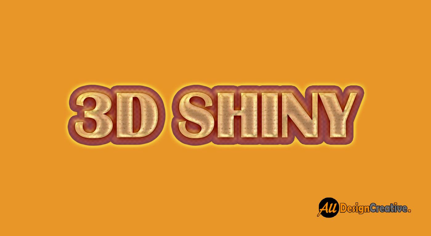 Shiny Text Effect PSD