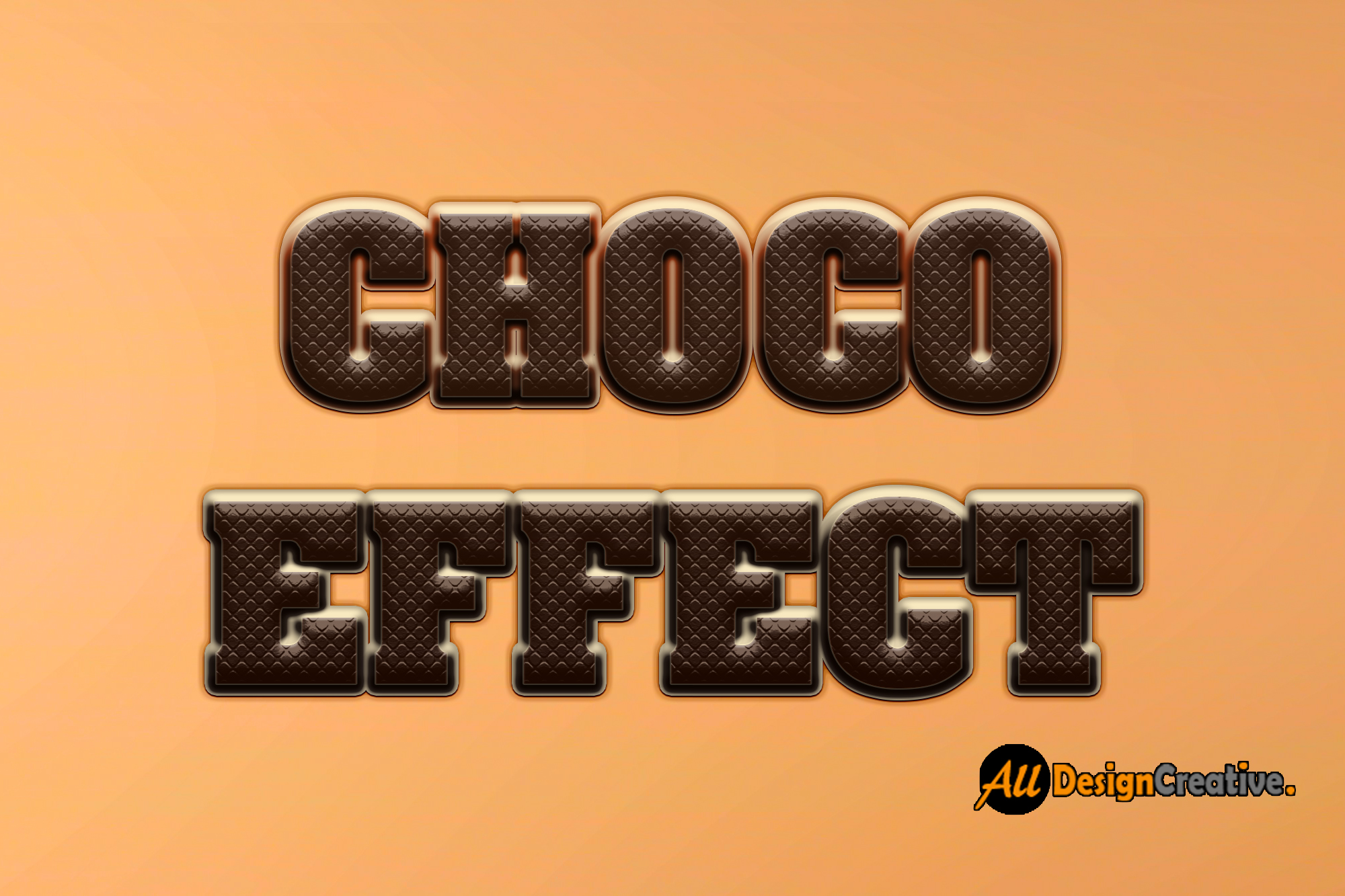 Chocolate Text Effect PSD Photoshop file