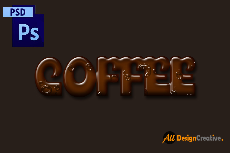 Coffee Text Effect PSD File