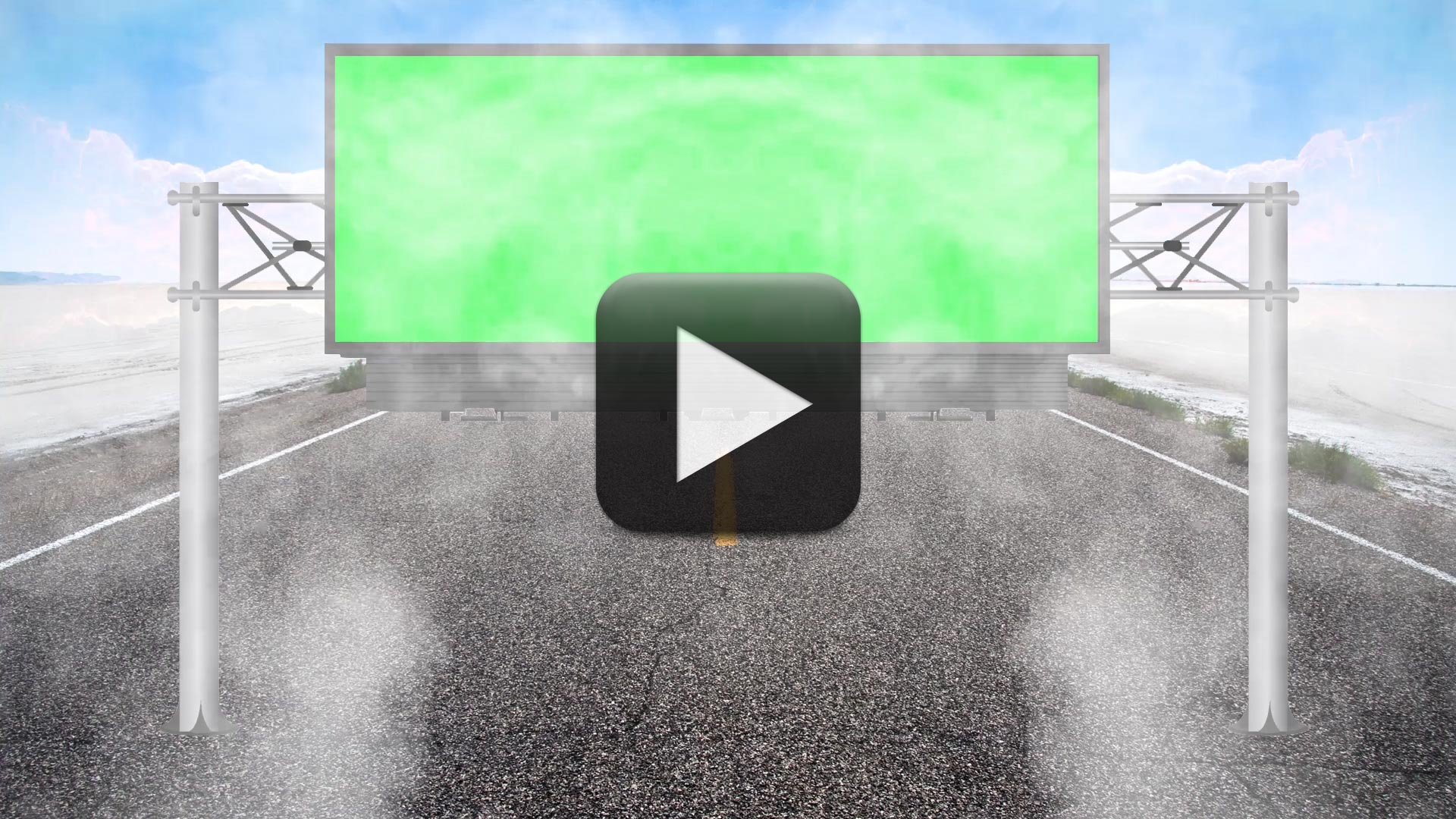HD wedding background 1080p-Billboard Green Screen with Cool Smoke Animation