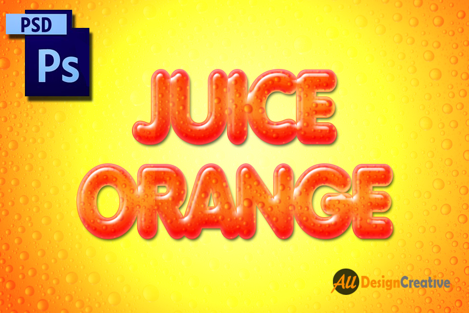 Juice Text Effect Photoshop PSD