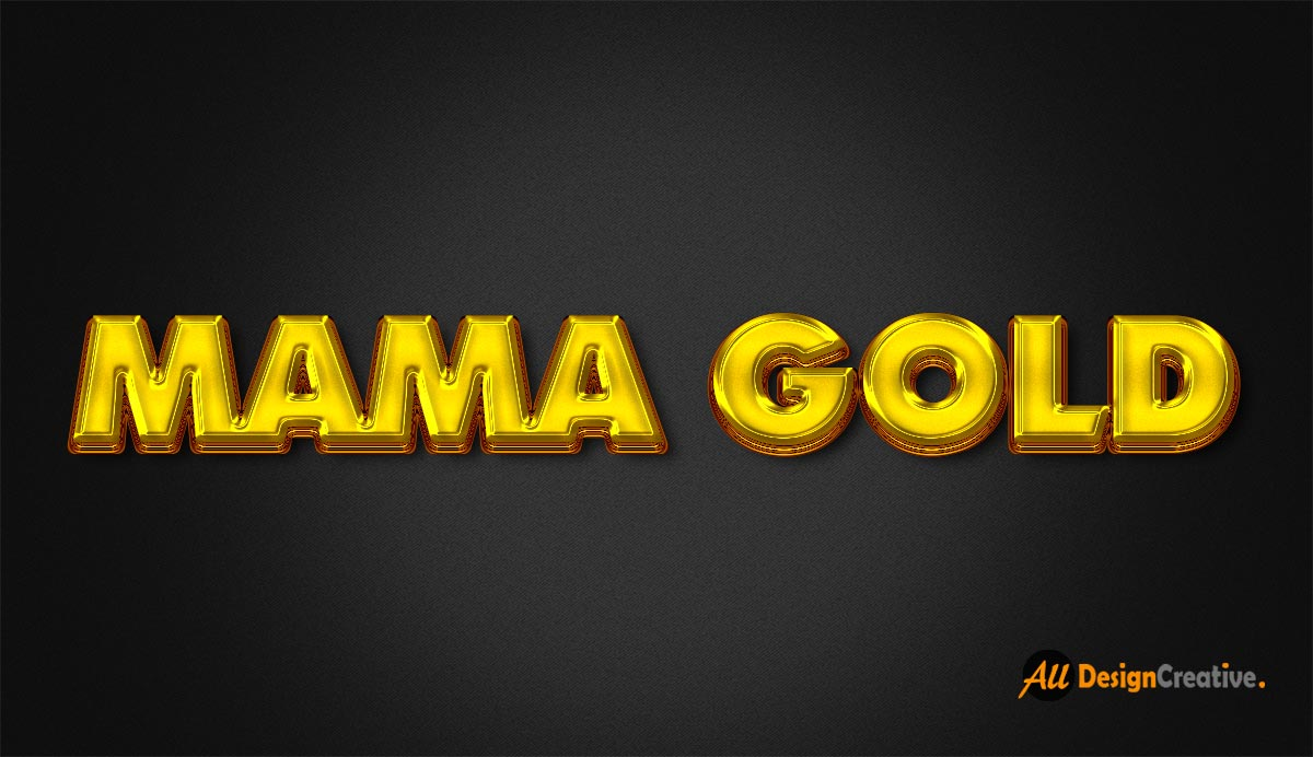 Mama Gold Effect PSD Photoshop File