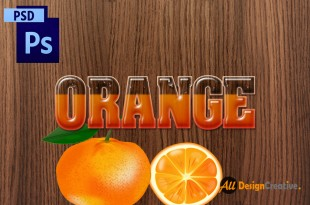 Orange Text Effect PSD Photoshop Layer Style