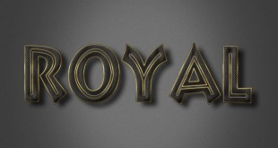 Royal Text Effect PSD Photoshop File