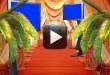 Wedding Backgrounds-Entrance TV Monitor Displaying