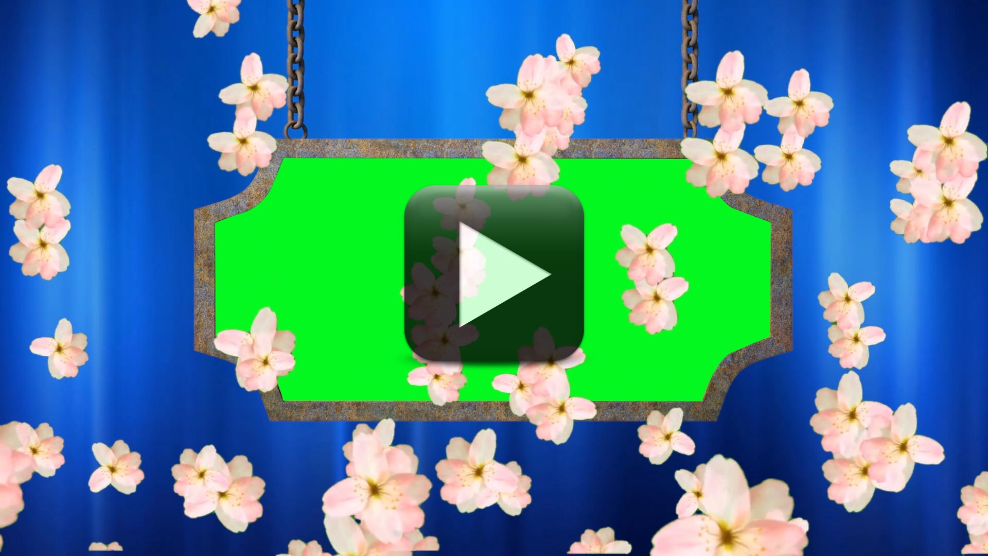 Wedding Video Background-Animated Flowers Falling