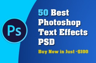 50 Best Photoshop Text Effects PSD