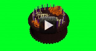 Animated Birthday Cake-Green Screen