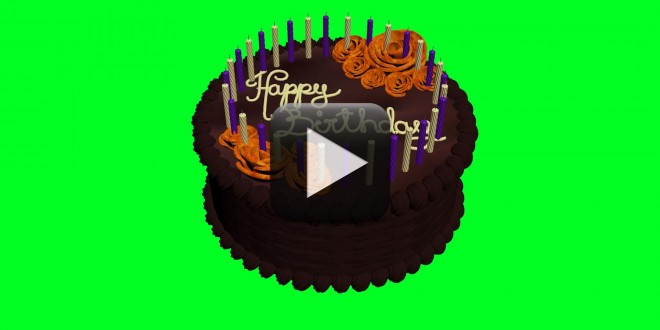 Animated Birthday Cake Green Screen All Design Creative