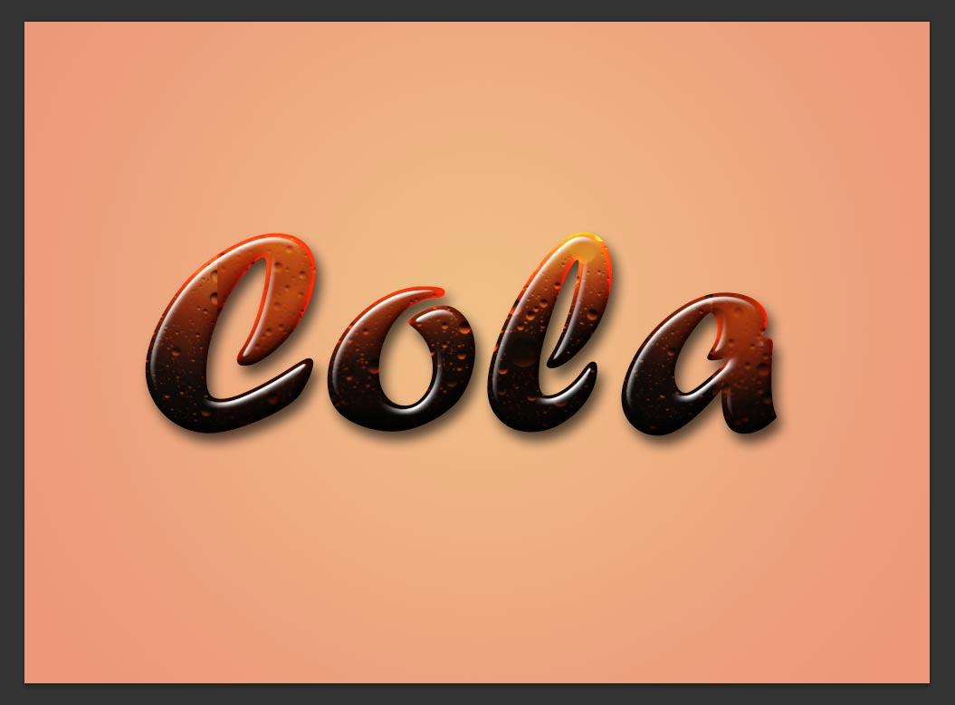 photoshop cola text effects tutorials