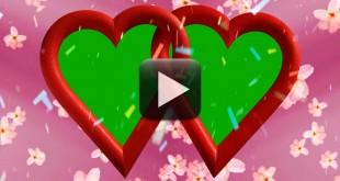 Free Wedding Background Video-Love Heart Animation