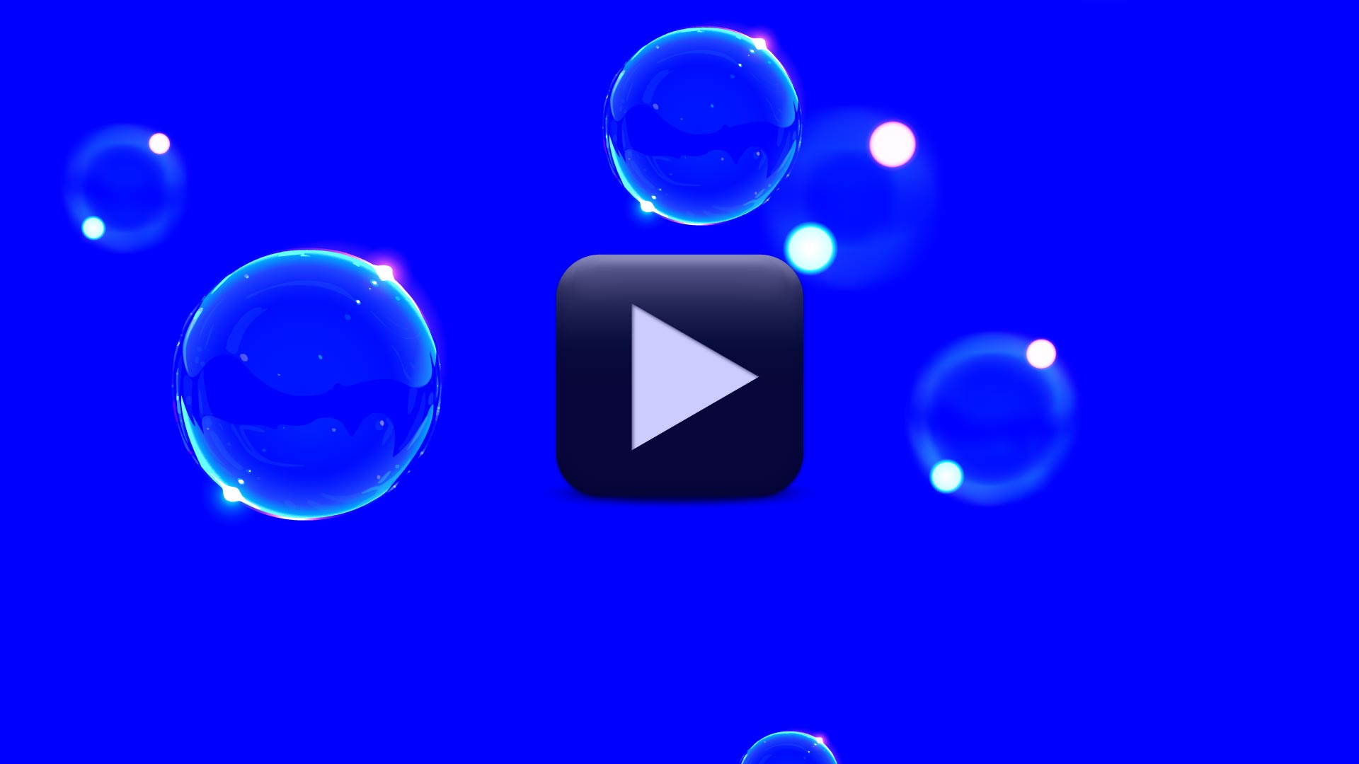 Bubbles Animation Video Background-Blue Screen Video