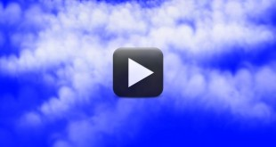 Flying into Clouds-HD Free Animation Blue Screen
