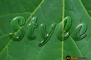 Water Drop Text Effect Photoshop PSD