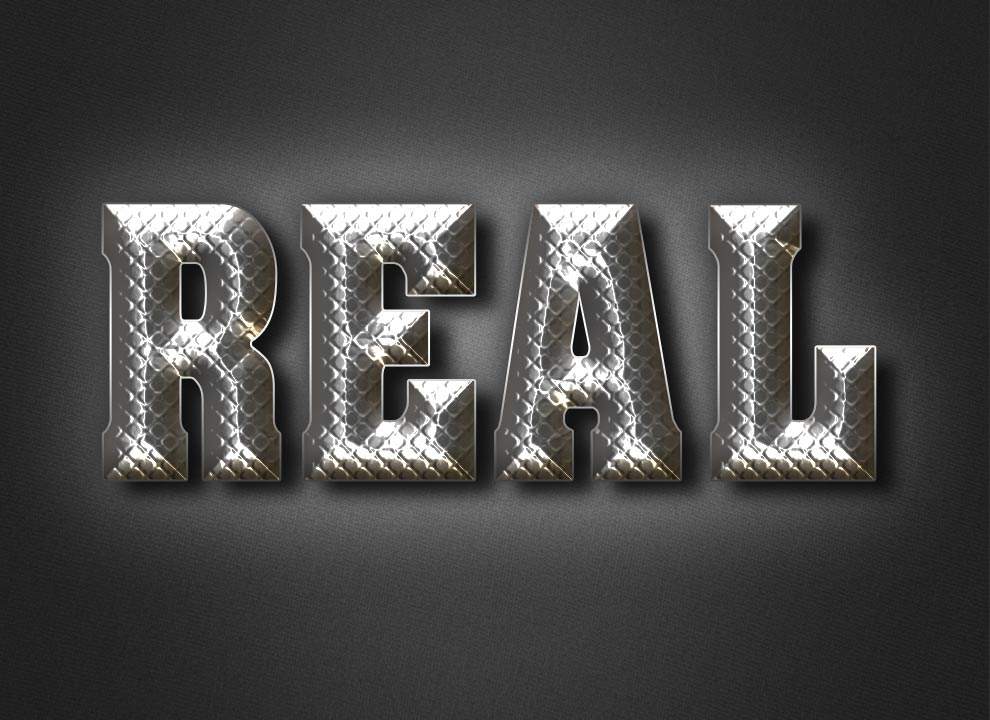 Realistic Metal Text Effect Tutorial in Photoshop