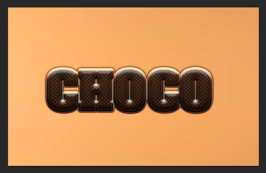 Chocolate Text effect Tutorial Photoshop