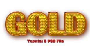 Best Golden Text Effect in Photoshop Tutorial