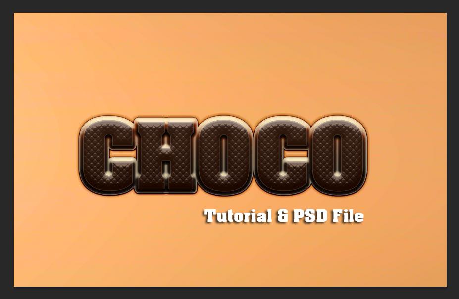 Chocolate Text Tutorial Photoshop