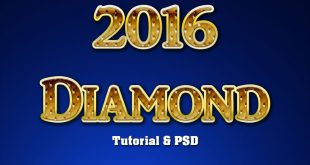 Diamond Text Effect Photoshop Tutorial 2016