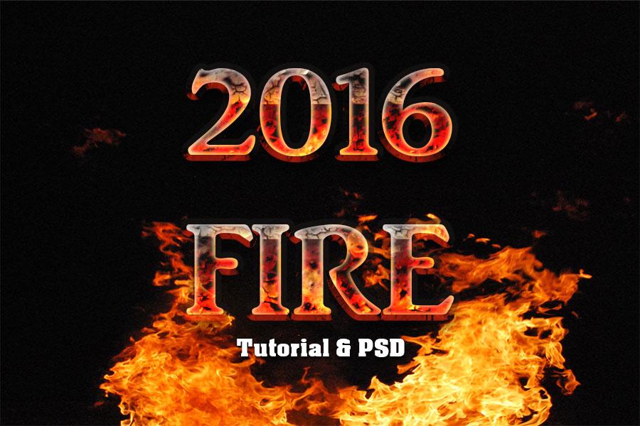 Fire Text Effect Photoshop Tutorial | All Design Creative