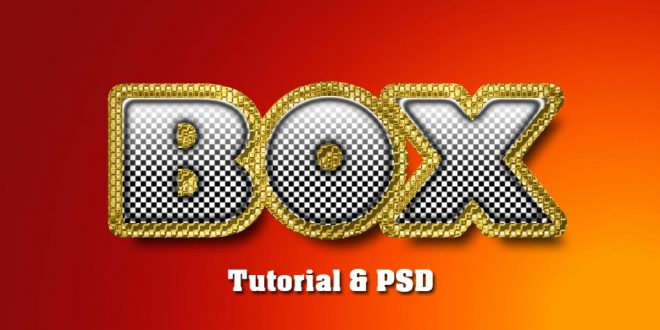 Create an Easy Realistic Box Gold Text Effect Tutorial