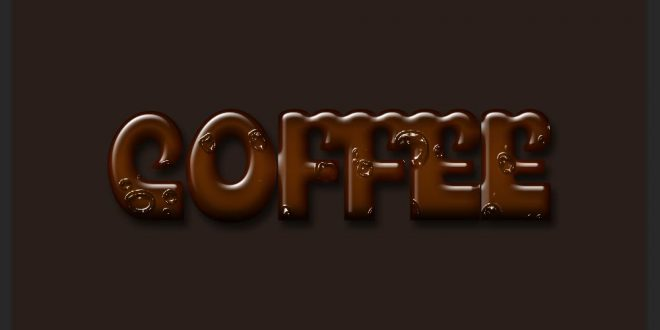 Coffee Text Effect Photoshop Tutorial