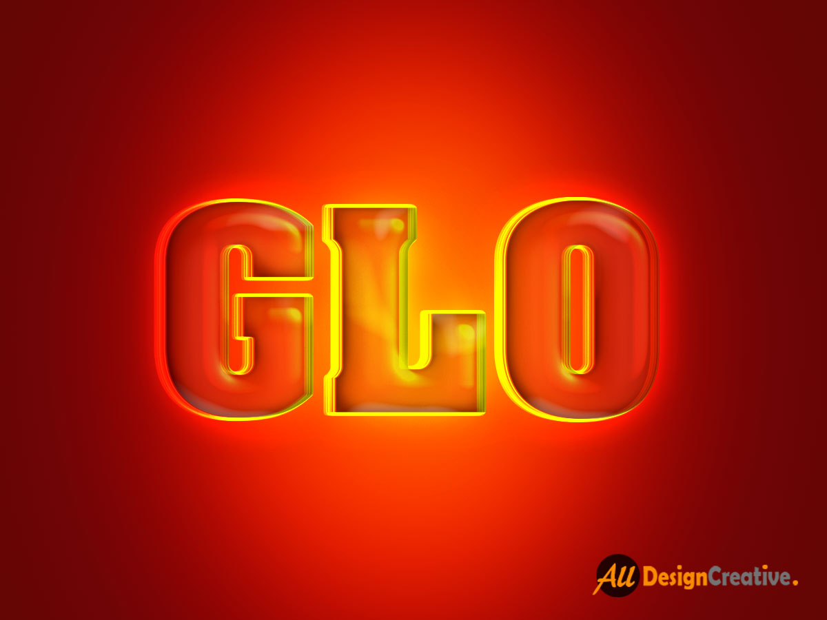 Text Glowing Effect Photoshop PSD Files