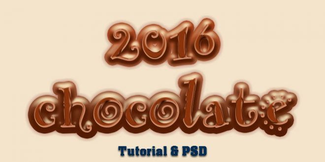 how to create a chocolate text effect in photoshop