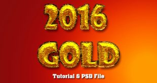 Real Gold Plated Text Effect In Photoshop