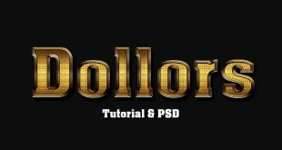 Shiny Gold Text Photoshop Tutorial