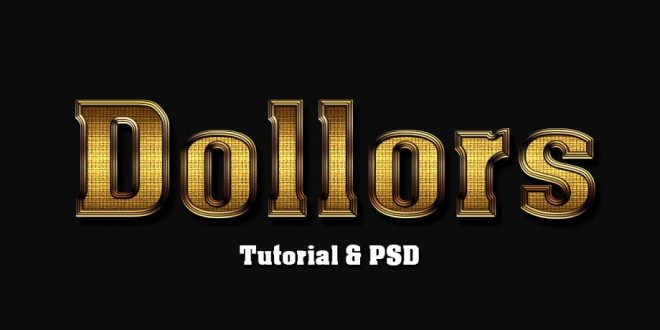 Shiny Gold Text Photoshop Tutorial