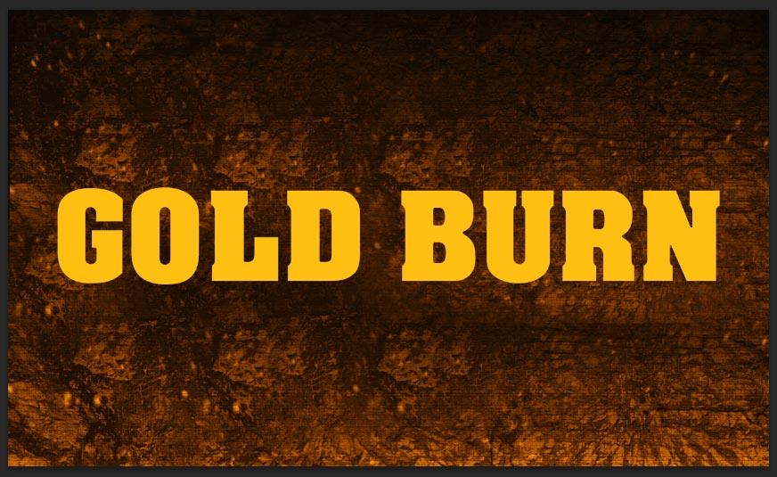 Gold Fire Text Effect Photoshop Tutorial | All Design Creative