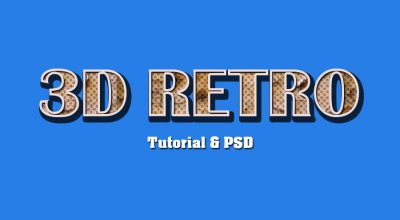 3D Retro Text Effect Photoshop Tutorial | All Design Creative